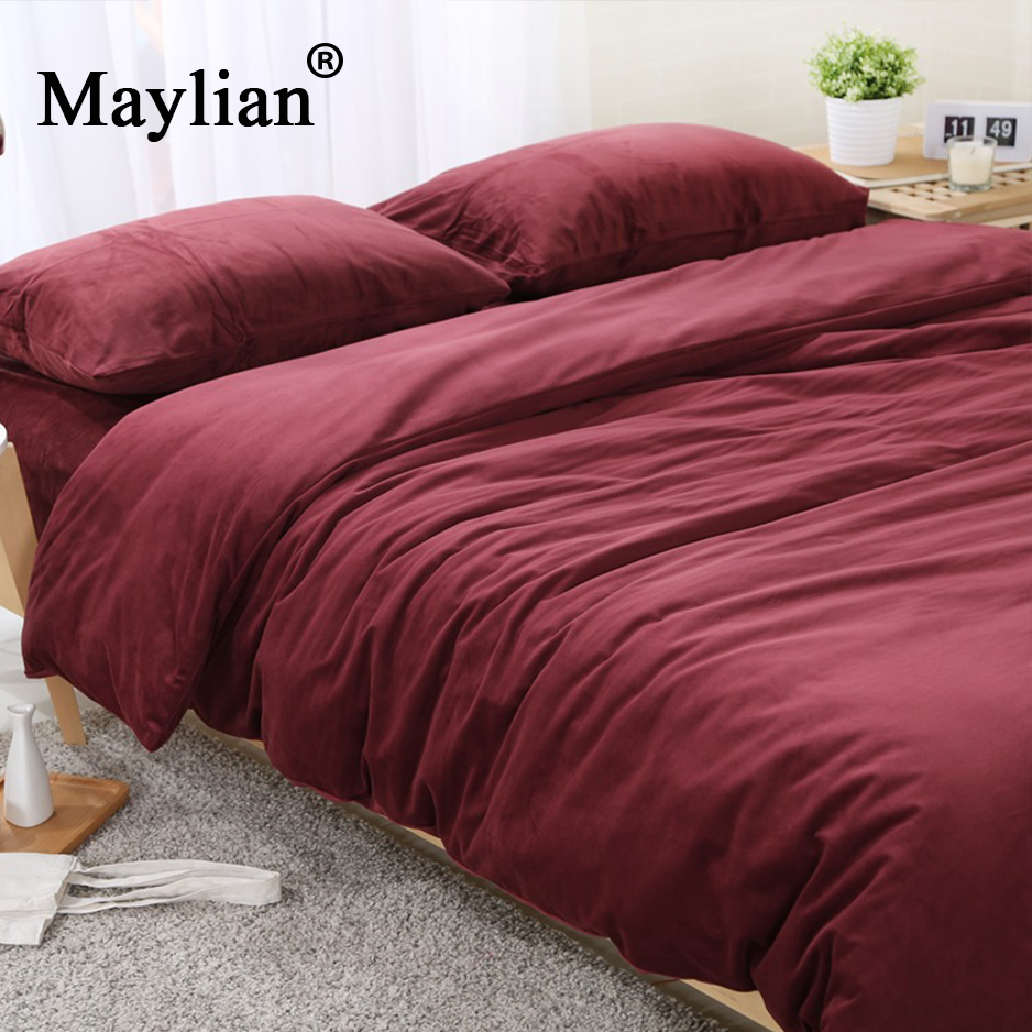 Home Textile 4pcs Bedding Sets Duvet Cover Bed Sheet Pillow Cover Flannel Autumn Winter Warm Brand BE1090