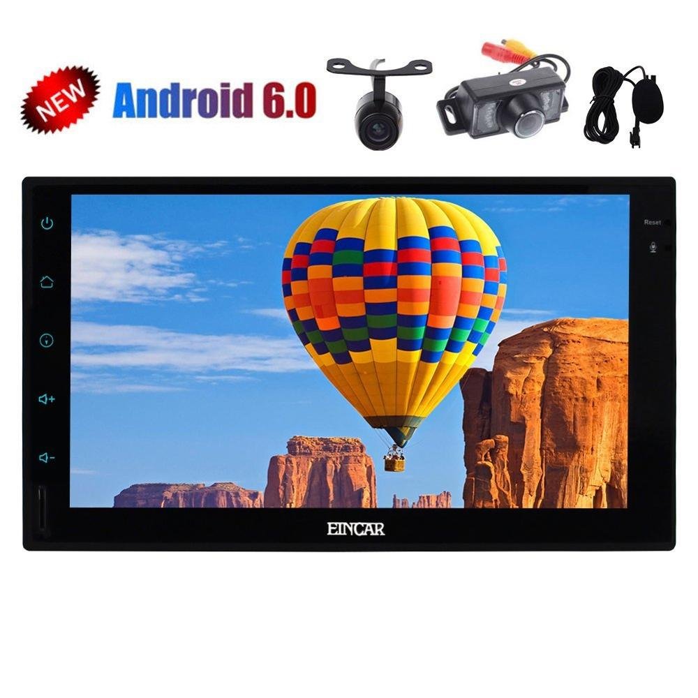 External Micro Dual Cameras included Android 6 0 Stereo 2din GPS Navigator Car Tablet PC Player
