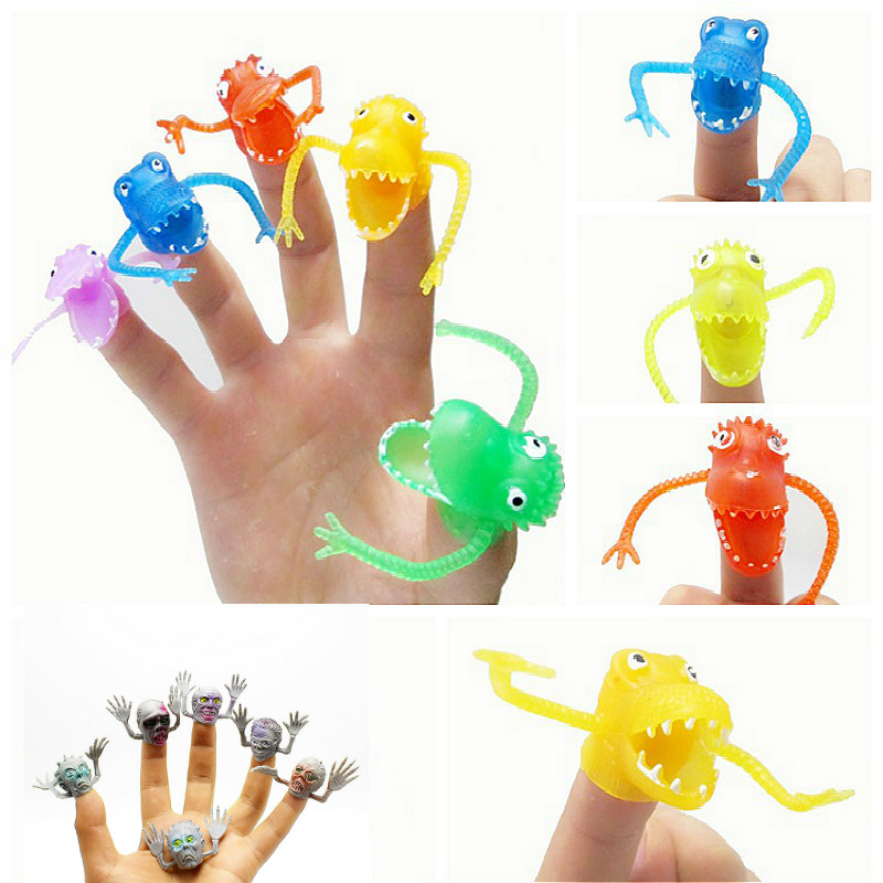 Prank Novel Pastic Dinosaur Finger Puppet Finger Set Tells Story Mini Finger Set Twisty Decompression Toy Stress Toy Funny Gift