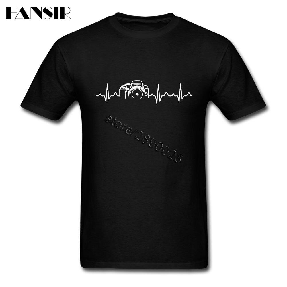 Photography Heartbeat Men T Shirt Fashion T Shirts Male Short Sleeve O Neck Plus Size Brand