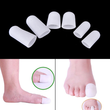 1Pair Silicone Gel Tube Bandage Finger& Toe Protectors Foot Feet Pain Relief Guard For Feet Care Insoles Feet Care Tool