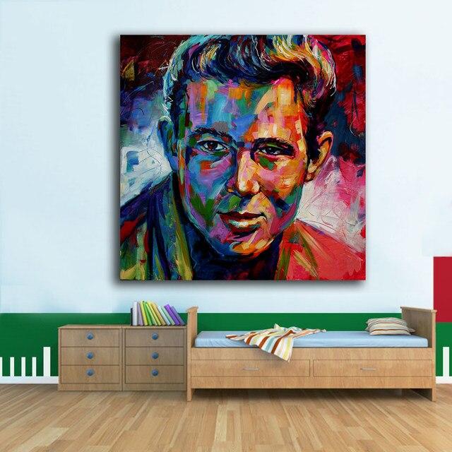 Online Shop Pop art James Dean Oil Painting Wall Art Paiting Canvas ...