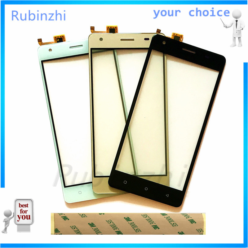 RUBINZHI Free 3M Tape Phone Touch Screen Digitizer Front Glass Touch Panel Sensor For Just5 Freedom M303 Touchscreen Replacement(China)