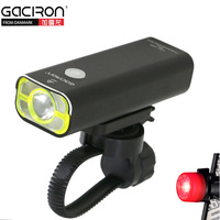GACIRON Flashlight Bike Light XPG 2 LED Bicycle Front Lamp USB Rechargeable Biking Bisiklet Aksesuar Free