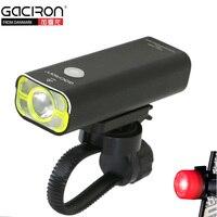 GACIRON Flashlight Bike Light XPG 2 LED Bicycle Front Lamp USB Rechargeable Biking Bisiklet Aksesuar Free