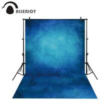 купить Allenjoy Thin Vinyl cloth photography Backdrop blue Computer Printing Background for Wedding Photo Studio Pure Color MH-075 дешево