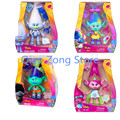Nova Dreamworks Filme Brinquedos Figuras de Ação de Papoula Ramo Trolls Trolls QJ326 Kawaii PVC Figuras Brinquedos para Crianças Presentes para Crianças