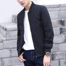 Spring Thin Jackets Men Solid Zipper Bomber Jacket Windrunner Men'S  Windbreakers Casual Male Coat brand clothing