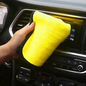 Image 4 - 2018 new 30 * 30 cm car wash microfiber towel for Hyundai ix35 iX45 iX25 i20 i30 Sonata,Verna,Solaris,Elantra,Accent,Veracruz