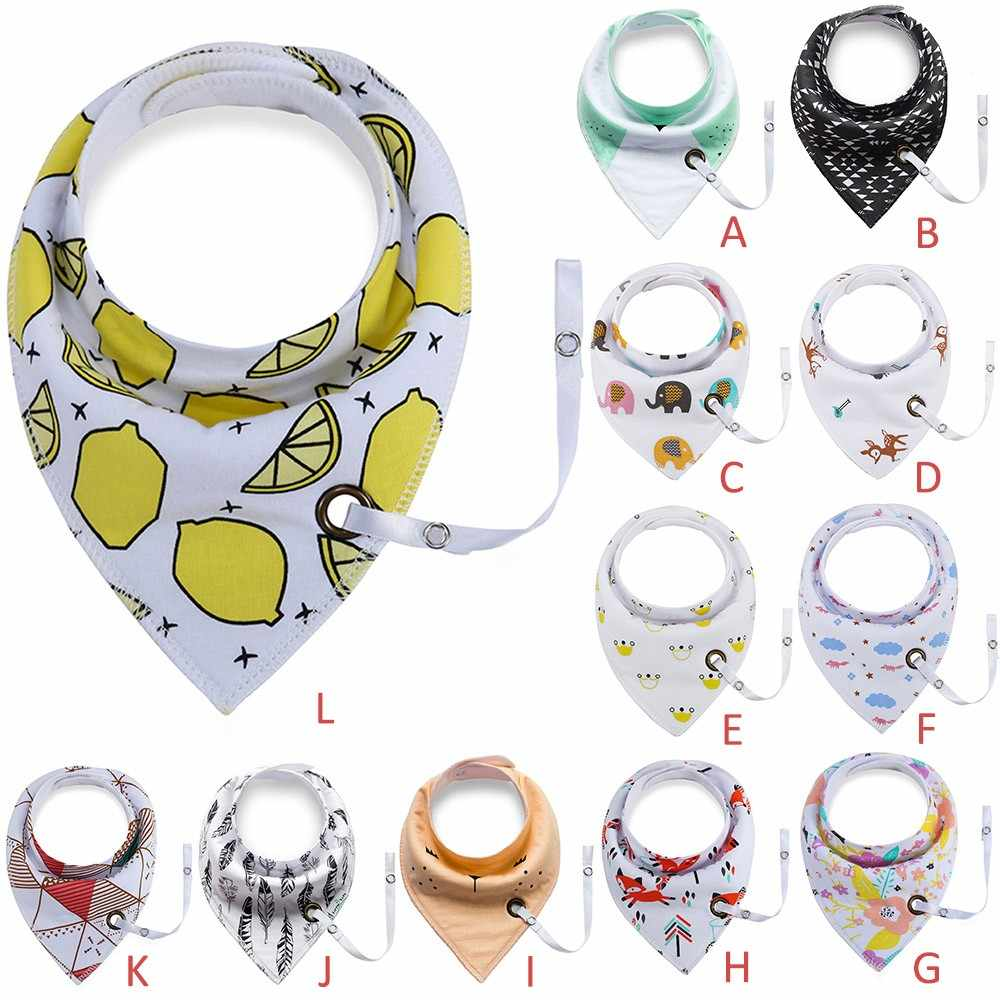 Baby bibs with Pacifier Unique Cartoon Triangle Cotton Towel Waterproof  Slobber Children's Accessories Multi-function