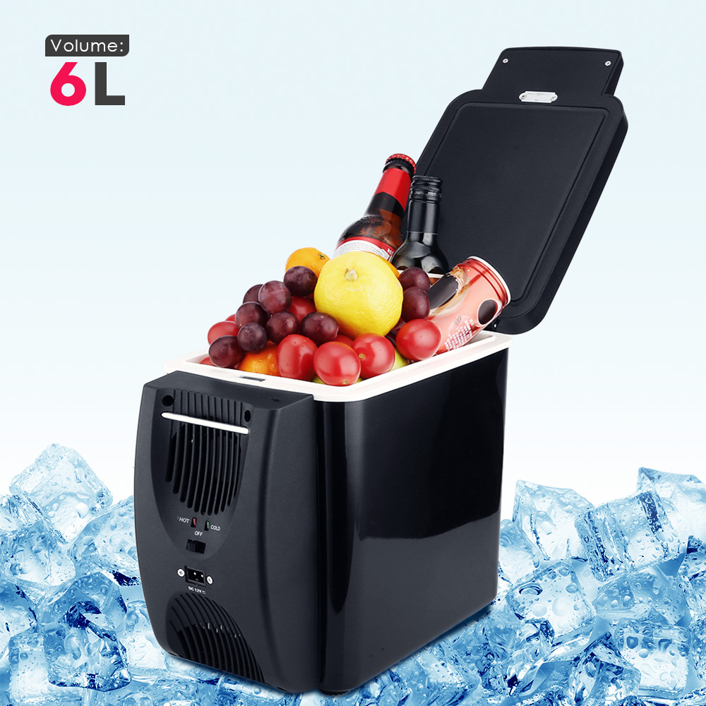 6L Mini Car Fridge Cooler Warmer 12V 220V Compressor Fridge Travel Refrigerator Portable Electric Icebox Cooler Box Auto Freezer