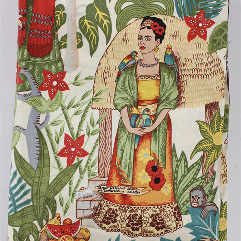 BZ37 100*140cm Giardino Stampato Retro Vintage Euramerican Stile Twill di Cotone Popeline Tessuto Per Le Donne Pannello Esterno Del Vestito FAI DA TE DA CUCIRE