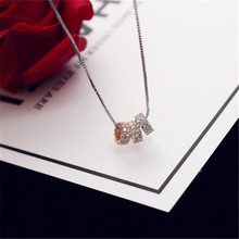 CX-Shirling 2017 Women Luxurious 3 Colors Zircon Shiny Necklace Short Design Collar Pendant Brand Mix