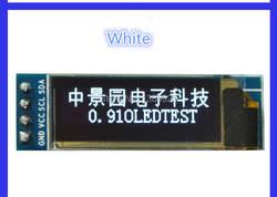 """5 шт./лот 0.91 дюймов OLED модуль 0.91 """"Белый OLED 128x32 OLED ЖК-дисплей LED Дисплей модуль 0.91"""" IIC общаться"""