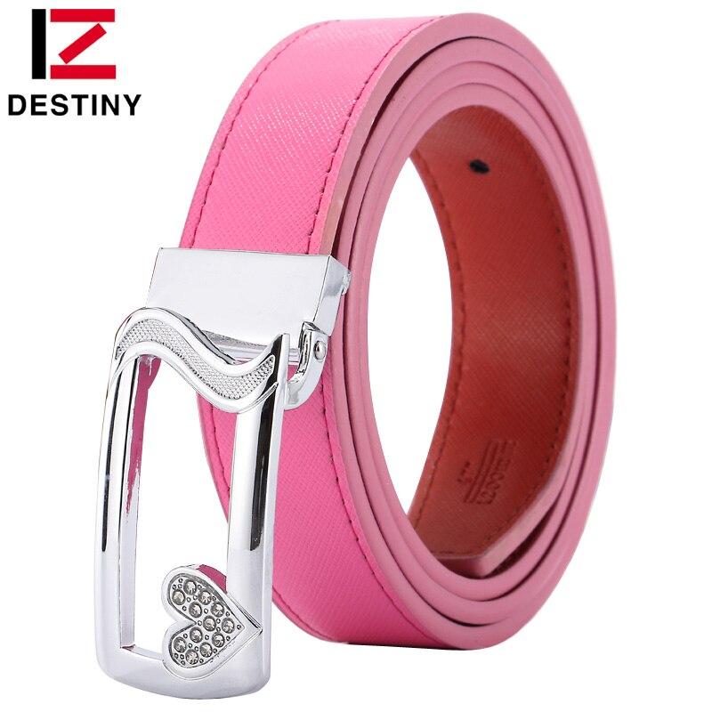 2232e9ce7 DESTINY famous brand women belt female genuine leather strap ladies girls  designer for jeans skirt fashion ...