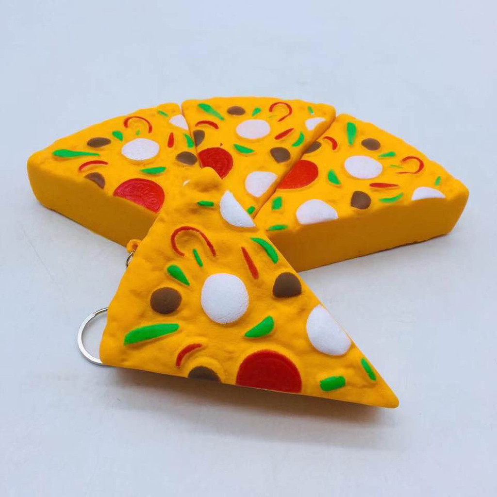 Interesting Kids Toy 11cm Mini Yummy Pizza Squishy Slow Rising Cream Scented Charm Stress Reliever Toy    6.10
