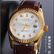 38MM SANGDO men s watch Sapphire mirror Gold plating 0267C Automatic Self Wind movement 2016 new