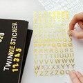 2016 Новое Прибытие Наклейки 1 шт. Кристалл Английский алфавит Наклейки Новый Дизайн Английский письма ноутбук наклейки