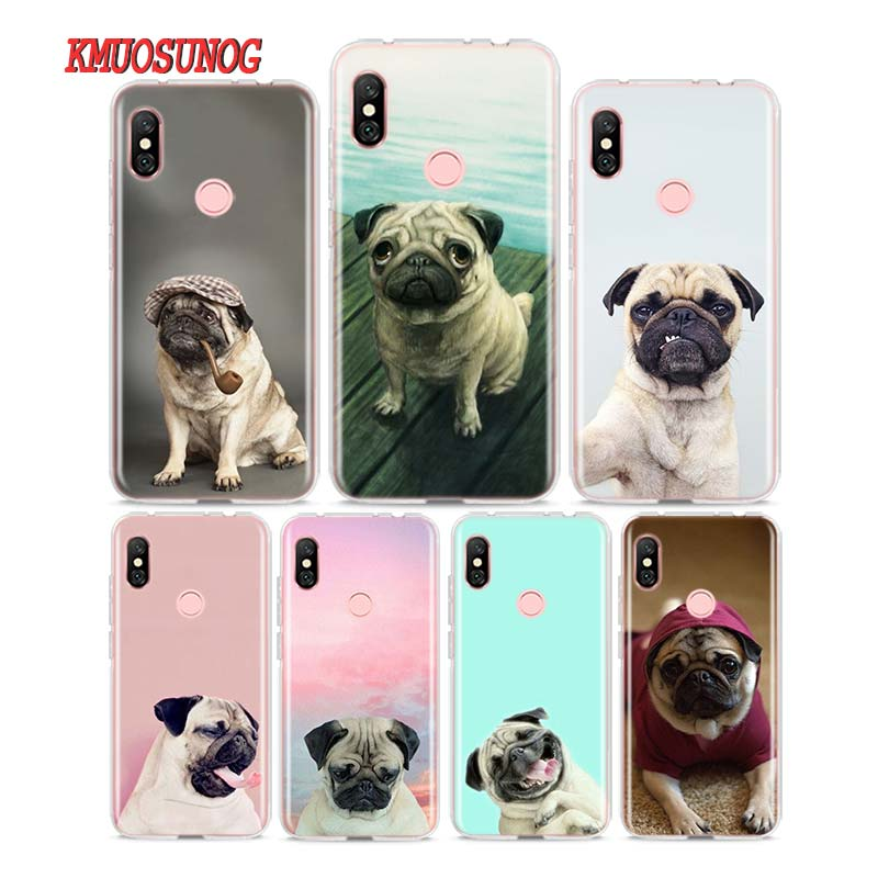 Silicone Phone Case <font><b>pug</b></font> dpt for Redmi 7 Y3 Y2 S2 <font><b>Xiaomi</b></font> Redmi Note 7 6 6A 5 5A Pro Plus 4 4X <font><b>Cover</b></font> image