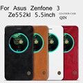 Ze552kl nillkin case 5.5 polegada qin série genuíno tampa flip carteira de couro case para asus zenfone 3 ze552kl
