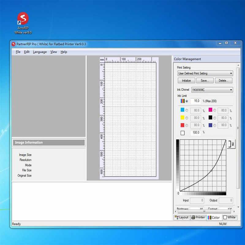 Kunci Dongle untuk Acrorip Acrorip Putih Ver9.0 Perangkat Lunak untuk Epson Semua UV Printer Inkjet Rip Software Usb Putih + pencetakan Warna