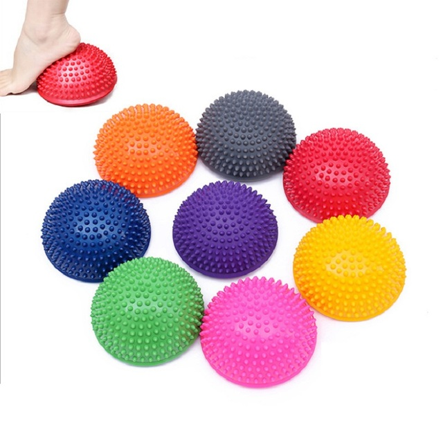 4 Pieces/set Yoga Half Ball Physical Fitness Appliance Exercise Balance Ball Point Massage Stepping Stones Balance Pilates Ball