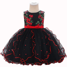 2019 Girls Summer Dress Infant Embroidery Princess Dress Children Party Wedding Flower Girl Elegant Dress стоимость