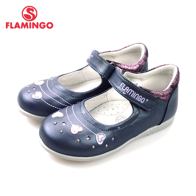Фламинго 2018 Новый Арка стопы Дизайн Весна и Лето Hook & Loop открытый Размеры 24-29 школьная обувь для девочек Бесплатная доставка 82T-XY-0831