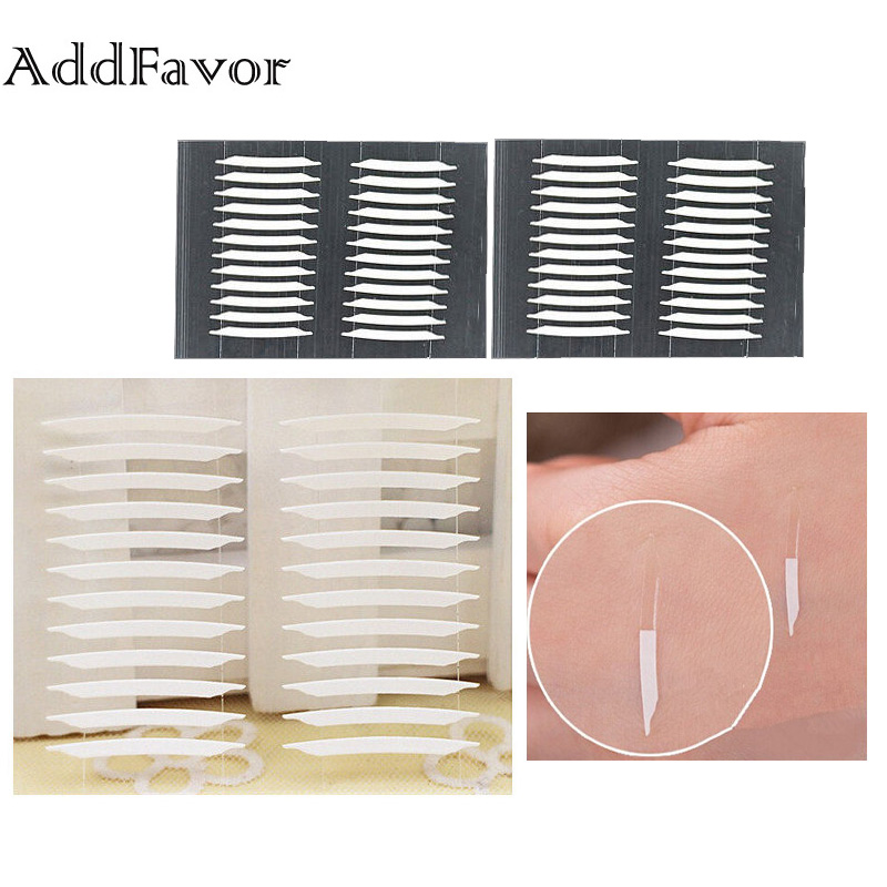 Steady Addfavor 5 Packs/lot Natural 3d Magic Double Sided Invisible Eyelid Tape Strong Adhesive Sticker Women Eye Beauty Tools 60 Pairs Price Remains Stable Eyelid Tools