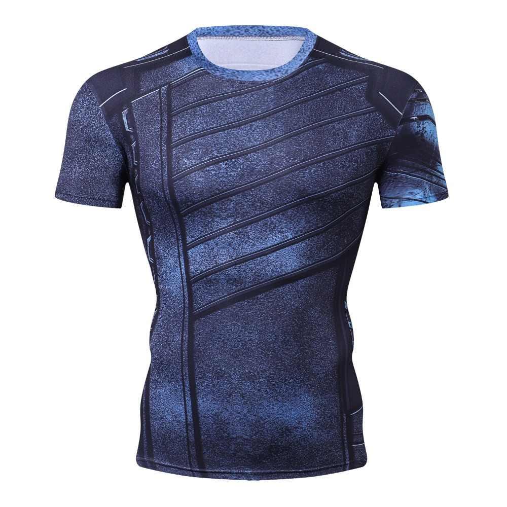 Новая мужская Молодежная 3D футболка Marvel супергерой Человек-паук Железный человек Футболка Мужская Фитнес компрессионная футболка высокоэластичные колготки