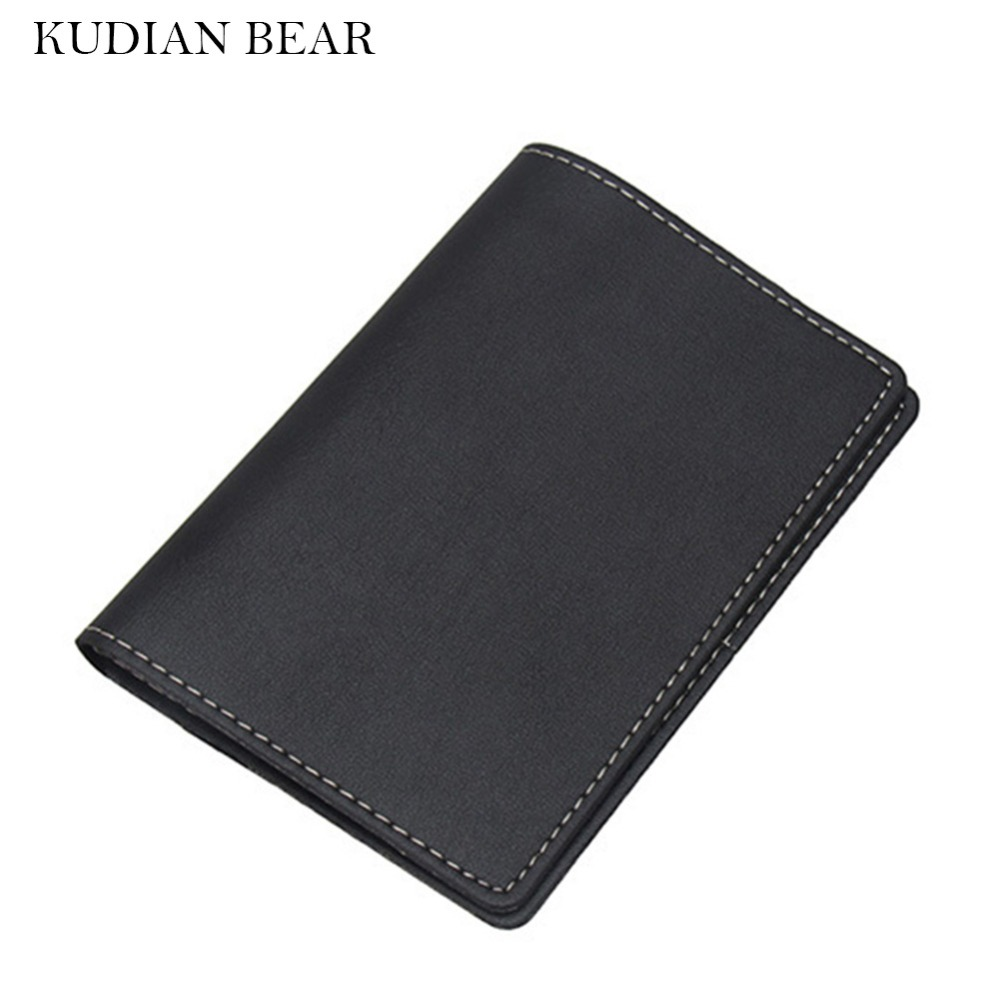 KUDIAN BEAR Rfid Passport Cover Leather Passport Holder Travel Passport Wallet for Documents Porte Carte-- BIH039 PM49 custom leather recipes upscale restaurant carte menu folder a4 leaflet transparent cover plate wine list holder