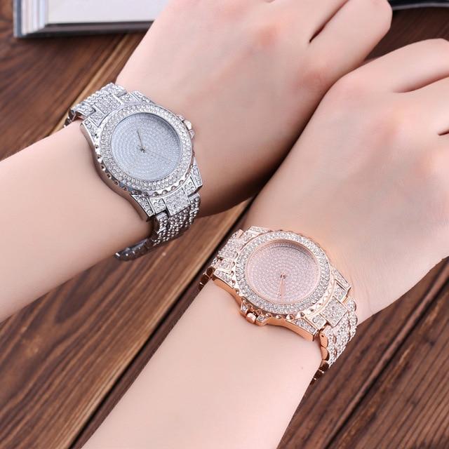 Relogio Feminino Crystal Women Watche Full Steel Ladies Wristwatch Women reloj hombre montre femme zegarek damski reloj de mujer Accessories Female Watches Jewellery & Watches