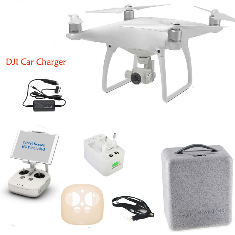 Free Shipping DJI Phantom 4 RC Drone W/ DJI Car Charger Set + More Gifts Via EMS