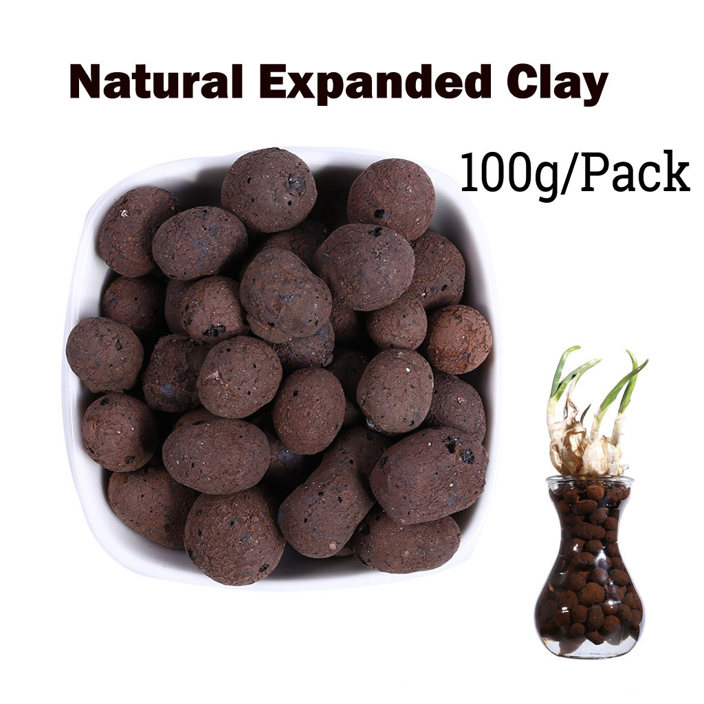Organic Expanded Clay Pebbles Grow Media Orchids Hydroponics Aquaculture 100g Organic Garden Clay Pellets New Arrived 7.4