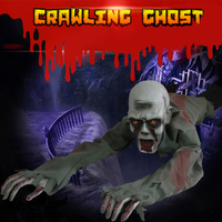 Horror Halloween Prop Party Decoration Electric Crawl Ghost Creative Halloween Party Decoration Horror Ghosts With Glowing