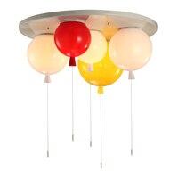 Красочный воздушный шар Combo 3/5 головок потолка лампы фойе детская комната Детская мультфильм шар украшение осветительное оборудование E27 св