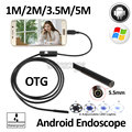 5.5mm Android USB Endoscope Camera Micro USB Endoscope 1M 2M 3.5M 5M Snake Flexible USB Waterproof Inspection Borescope Camera