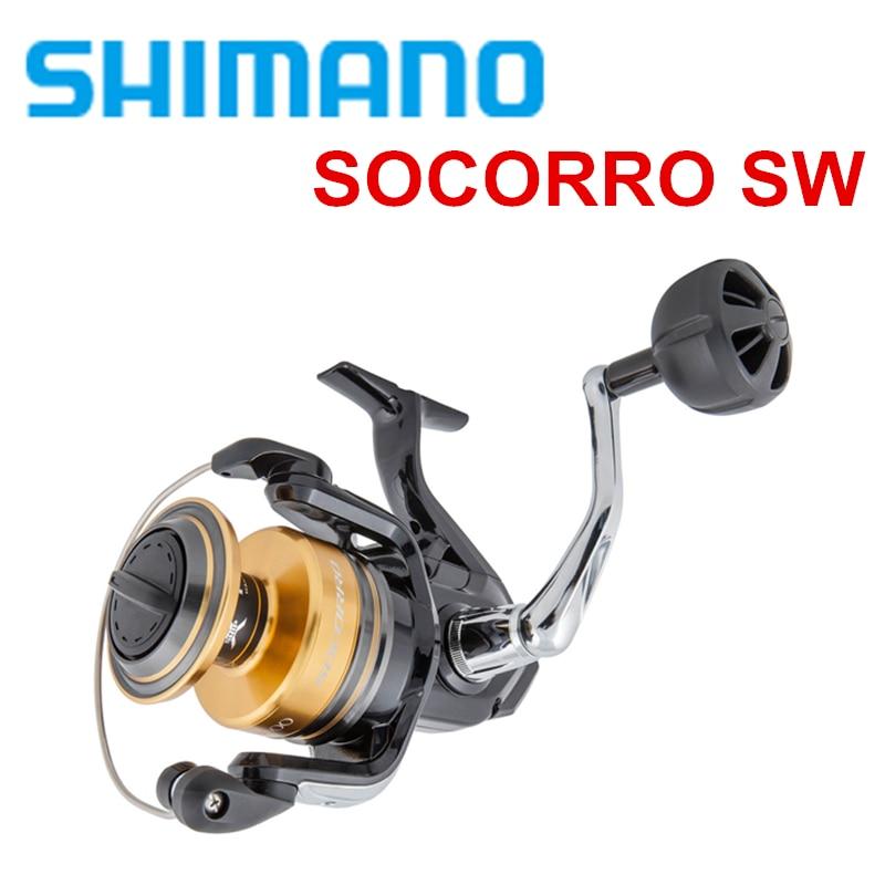 100 Original Shimano Socorro SW 5000 6000 8000 10000 Saltwater Spinning Fishing Reel 4 1BB gear