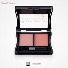 Perfect Summer Make Up Blush Palette Double Colors Brand Cheek Blusher Powder New Contouring Makeup Set Blush Christmas Gifts