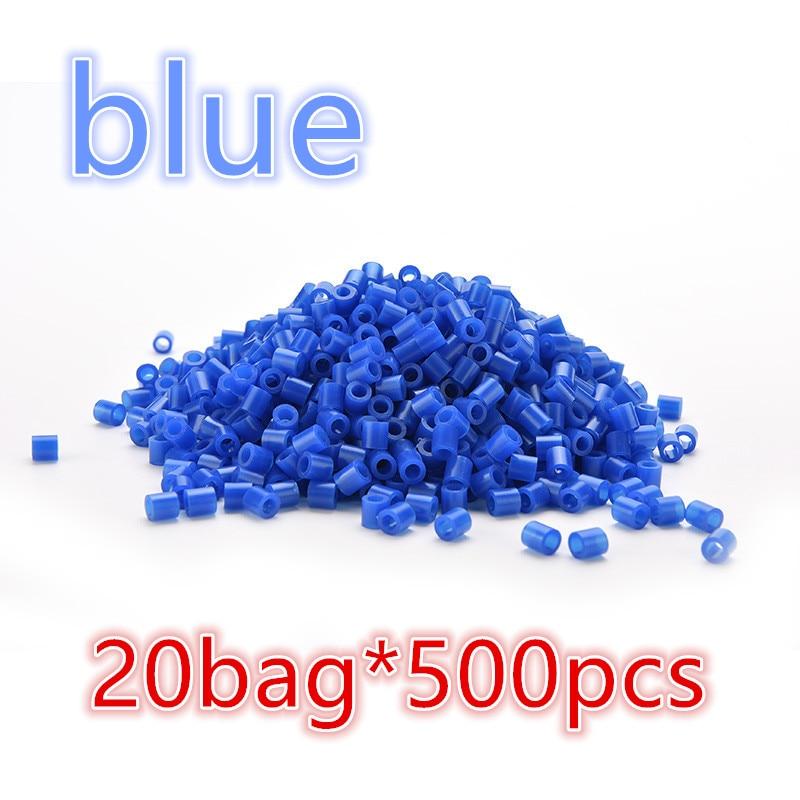wholesale blue 20packs 5mm hama perler fuse beads 20