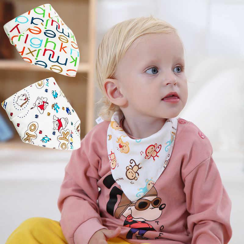 Cartoon Katoen Zachte Kinderen Peuter Driehoek Sjaal Bib Pasgeboren Baby Burp Bandana Slabbetjes Cool Accessoires Baby Speeksel Handdoek