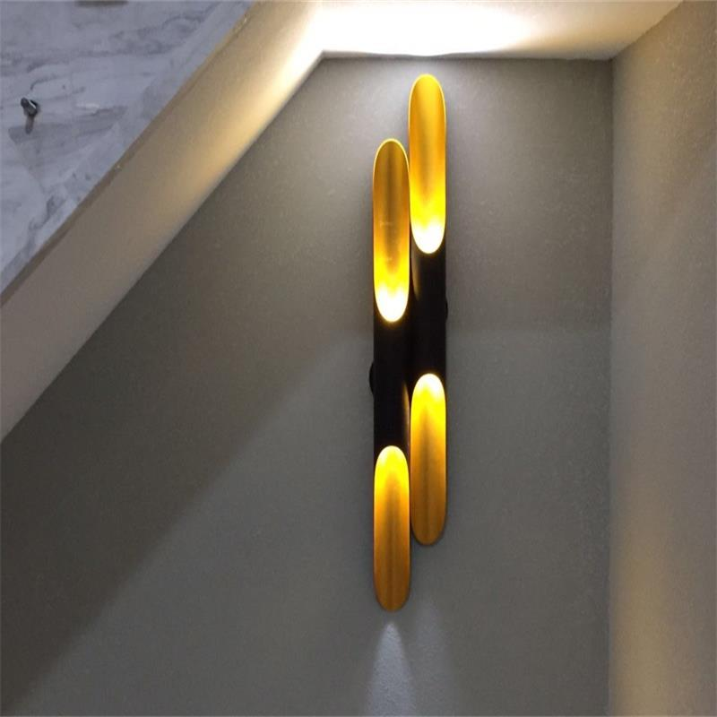 Modern Black Gold Wall Lamps For Living Room Led Wall Lights Up Down