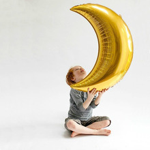 New 36-inch moon aluminum balloon birthday party celebration event atmosphere decoration foil