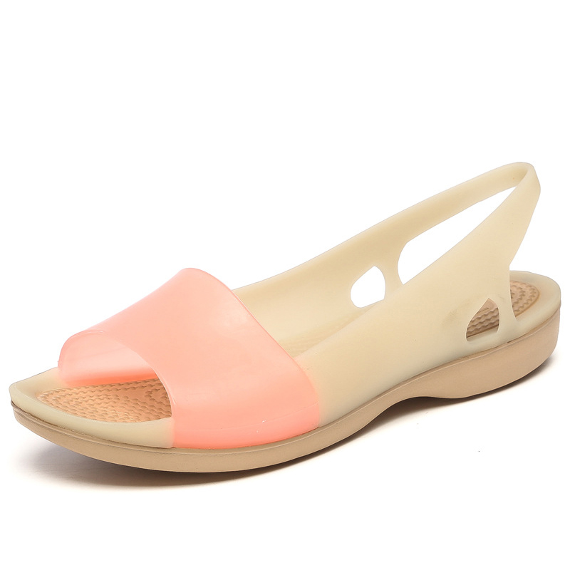 Herrenschuhe Hell Frauen Sommer Sandalen Offene Spitze Gelee Schuhe Damen Slip Auf Süßigkeiten Farbe Niedrigen Ferse Casual Schuhe Weibliche Mode Schuhe Schrumpffrei