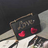 2017 Summer Panelled Love Heart Small Flap Cross Body Bag Fashion Ladies Patchwork Messenger Bag Female