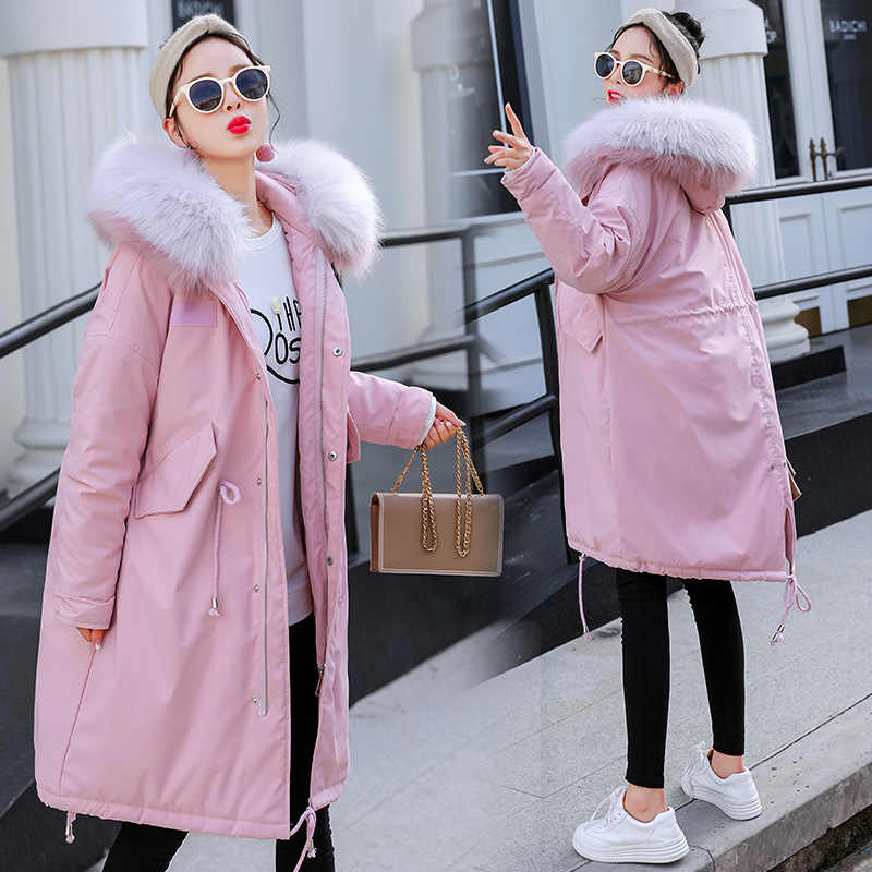 a53ad4645e9d8 ... Maternity Women New Moms Fluffy Mid-long Hooded Down Cotton Cardigan Coat  Fashion Lightweight Warm ...