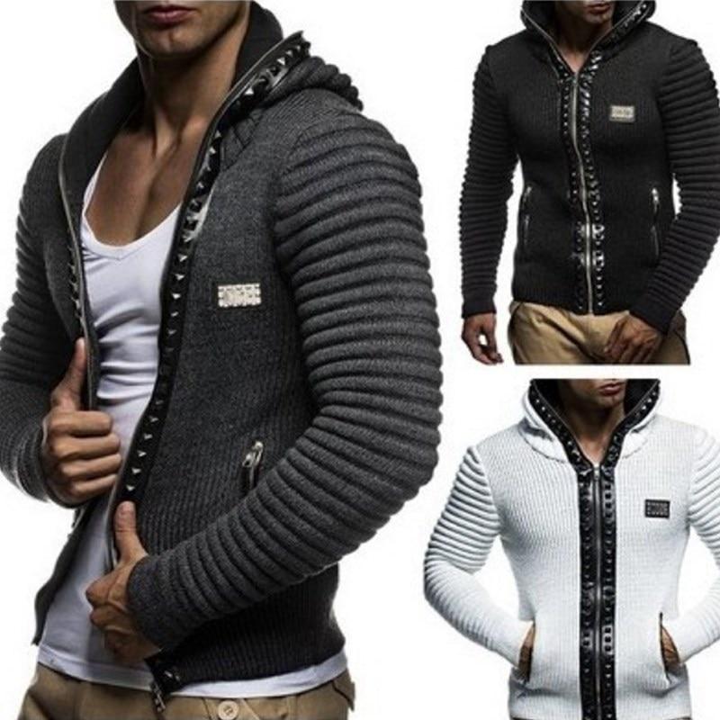 2018 Hoodies Men Sudaderas Mens Brand Leisure Zipper Jacket Autumn Winter Casual Hoodie Sweatshirt Slim Fit Men Hoody Coats