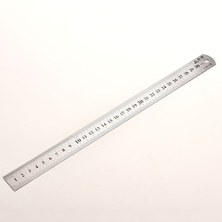 30cm Stainless Steel Metal Ruler Metric Rule Precision Double Sided Measuring Tool Stationery School Office Accessories Supplies