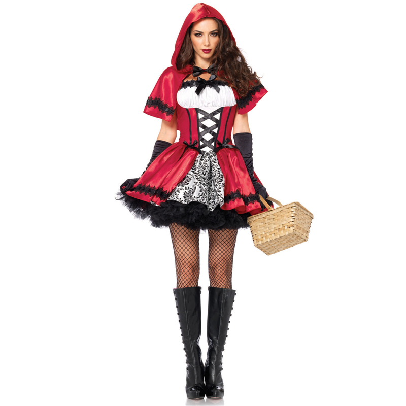 little red riding hood sexy queen outfit anime female halloween costume for women fun uniform role - Female Gangster Halloween Costumes