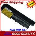 Jigu batería del ordenador portátil para ibm/lenovo thinkpad r61 t400 r400 2765 7443 7738 T61 7661 T61 7660 T61 R61 7742 R61 R400 T400 R61i T61u